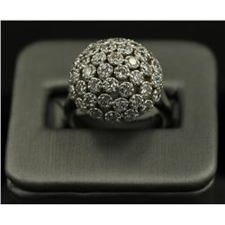 14KT White Gold Flower Design 2.50 ctw Diamond Ring