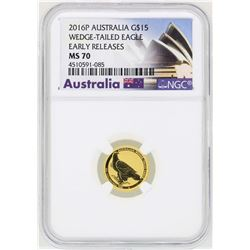 2016P Australia $15 Wedge Tailed Eagle Gold Coin NGC MS70 Early Releases