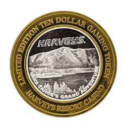 .999 Silver Harveys Lake Tahoe, Nevada $10 Casino Limited Edition Gaming Token