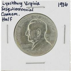 1936 Lynchburg Virginia Sesquicentennial Commemorative Half Dollar Coin