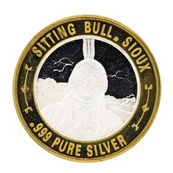 .999 Silver Sitting Bull Sioux $10 Casino Limited Native American Series Gaming