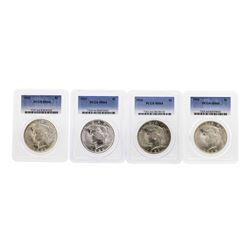 Set of 1922-1925 $1 Peace Silver Dollar Coins NGC MS64