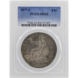 1877-S $1 Silver Trade Dollar Coin PCGS MS62