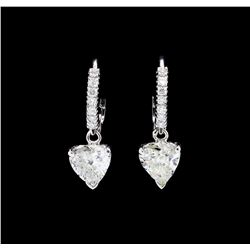 14KT White Gold 1.44 ctw. Diamond Dangle Earrings