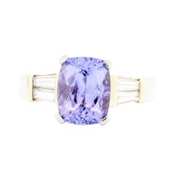 14KT Yellow Gold Ladies 2.44 ctw Tanzanite and Diamond Ring
