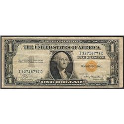 1935A $1 North Africa WWII Emergency Silver Certificate Note