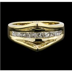 14KT White Gold 0.55 ctw Diamond Ring