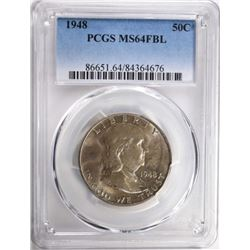 1948 FRANKLIN HALF DOLLAR PCGS MS64FBL
