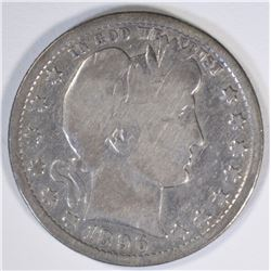1896-O BARBER QUARTER, VG -KEY DATE!