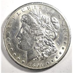1894-S MORGAN DOLLAR, AU/BU cleaned BETTER DATE