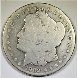 1902-S MORGAN DOLLAR, GOOD KEY COIN