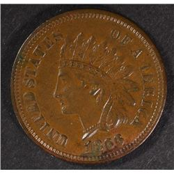 1866 INDIAN HEAD CENT  XF-AU