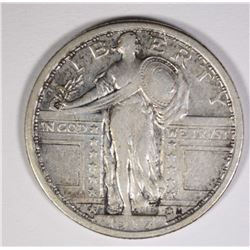1917 TYPE 1 STANDING LIBERTY QUARTER XF