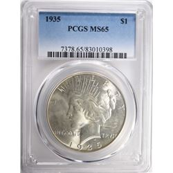 1935 PEACE DOLLAR PCGS MS65