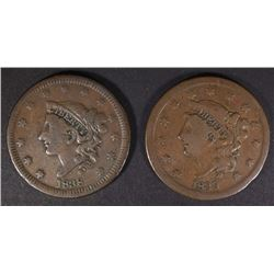 1838 VF & 1839 FINE LARGE CENTS