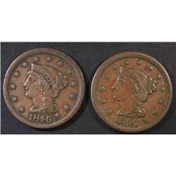 1846 & 1847 LARGE CENTS, VF