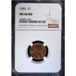 1955 LINCOLN CENT NGC MS66 RD