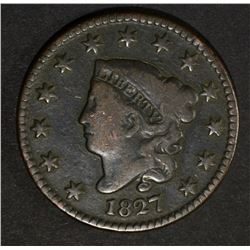 1827 LARGE CENT  FINE  KEY DATE