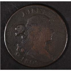 1803 DRAPED BUST LARGE CENT  VG/FINE