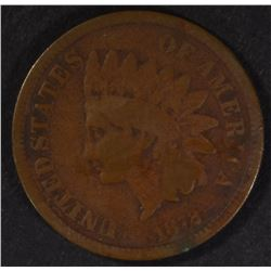 1872 INDIAN HEAD CENT  G-VG