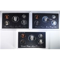 1996, 1997 & 1998 Silver Proof Sets.