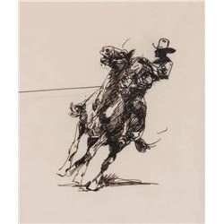 Edward Borein, pen and ink
