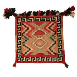 "Navajo Saddle Blanket, 2'3"" x 2'6"""