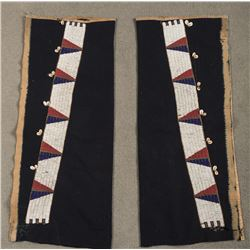 """Sioux Beaded Leggings, 33.5"""" x 13.5"""" overall"""