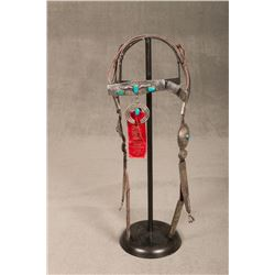 Navajo Silver and Turquoise Mounted Bridle