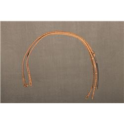 "Luis B. Ortega (1897-1995) Braided Working Reins, 47"" long"