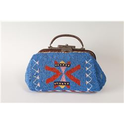 "Sioux Beaded Doctor's Bag, 12"" long"