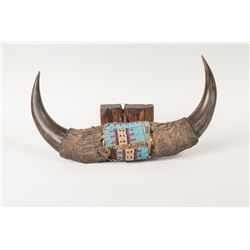 Beaded Buffalo Horns