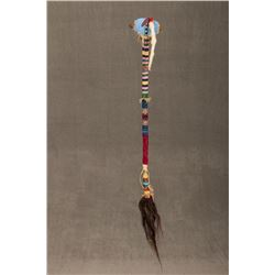 "Blackfeet Beaded Dance Club, 37"" long"
