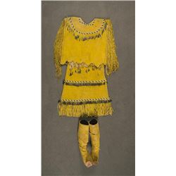 Apache Puberty Dress & Matching Moccasins