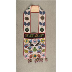 "Chippewa Beaded Bandolier Bag, 40"" overall"