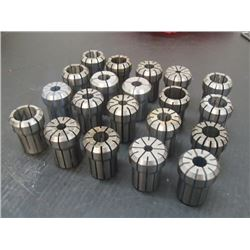 Kennametal/Erickson DA400 Collets, 20 Total