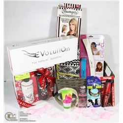 BASKET OF GIFTS FOR HER INCL AS SEEN ON TV ITEMS.