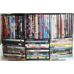 FLAT OF 70+ ASSORTED DVD's AS THEY COME