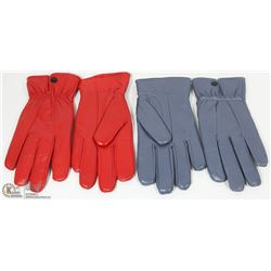 2 PACK OF SIZE MEDIUM WOMENS LEATHER GLOVES