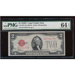 1928D $2 Legal Tender Note PMG 64EPQ