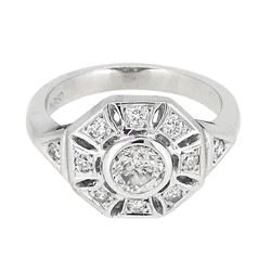 Platinum 0.91ctw Diamond Ring