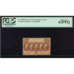 25 Cent Fractional First Issue Note PCGS 63PPQ
