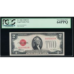 1928E $2 Legal Tender Note PCGS 64PPQ