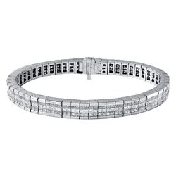 14KT White Gold 10.00ctw Diamond Bracelet