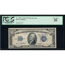 1934D $10 Silver Certificate PCGS 20
