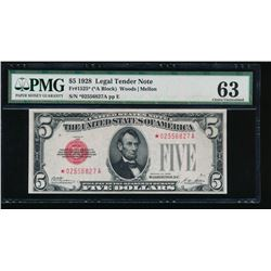 1928 $5 Legal Tender Note PMG 63