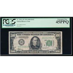 1934 $500 New York Federal Reserve Note PCGS 45PPQ