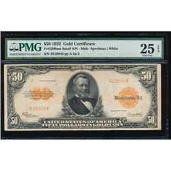 1922 $50 Large Gold Certificate PMG 25EPQ
