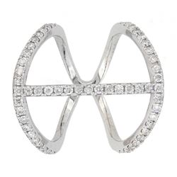 14KT White Gold 0.70ctw Diamond Ring