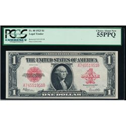 1923 $1 Legal Tender Note PCGS 55PPQ